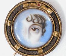Exceptional Lover's Eye Miniature Portrait Brooch