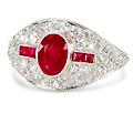 Maharajah's Bounty - Ruby Diamond Ring
