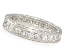 Breathtaking French Cut Diamond Eternity Ring 5.0 C.