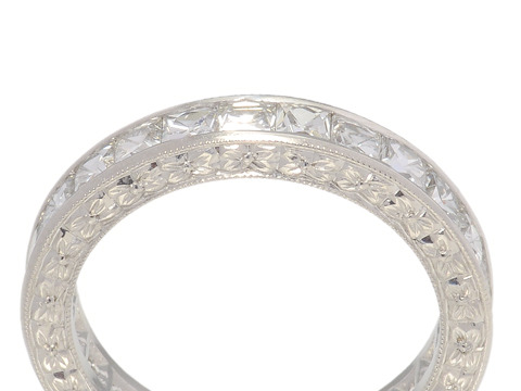 Breathtaking French Cut Diamond Eternity Ring 5.0 C.