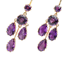 Deep Reverie - Chandelier Amethyst Earrings