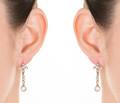 Elegant Rose Cut Diamond Earrings