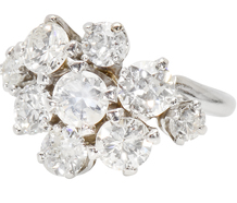 Spring Blossom Diamond Ring of 2.46 C.