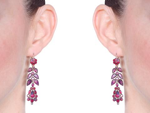 Magnificent Georgian Day Night Garnet Earrings