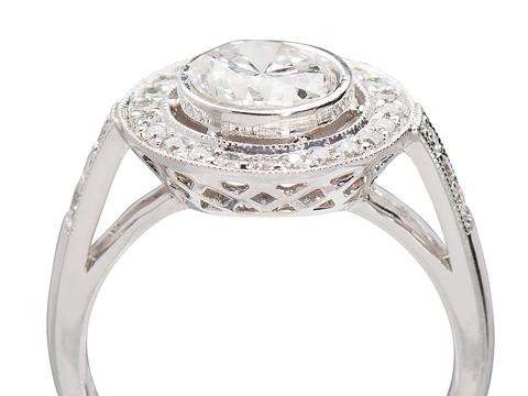 Bespoke Dramatic Diamond Halo Ring