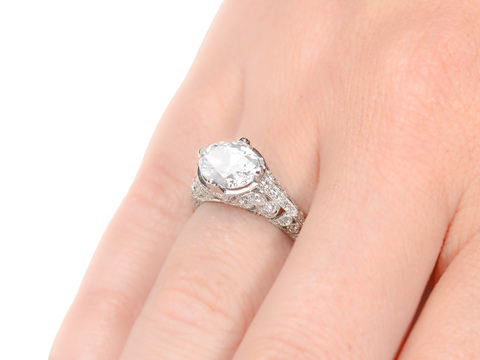 Breathtaking Proposal - Custom Diamond Engagement Ring