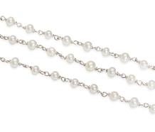 Drape of Pearls & Platinum Necklace