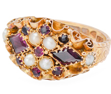 First Glance - Victorian Garnet Ring of 1886