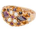 First Glance - Victorian Garnet Ring of 1886