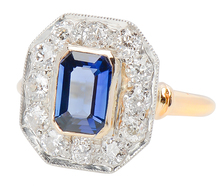 All The Angles - Sapphire & Diamond Ring