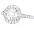 Targeted - 1.15 ct Diamond Platinum Ring