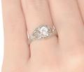 Vintage .40 C Diamond Engagement Ring