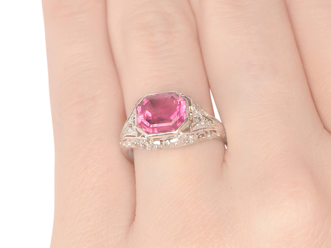 Tickled Pink - Vintage Tourmaline Ring