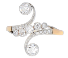 Night Swirls - Antique Diamond Ring