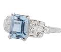 Blue Rhapsody - Aquamarine Diamond Ring