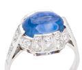 No Heat Ceylon Sapphire Diamond Ring