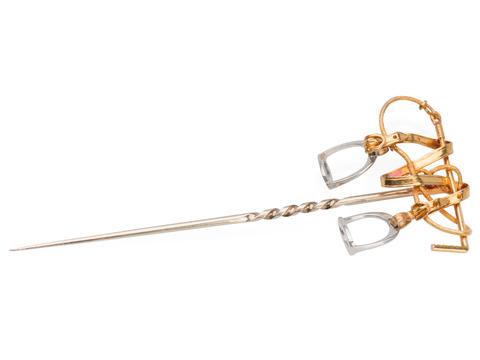 English Art Deco Equestrian Stick Pin