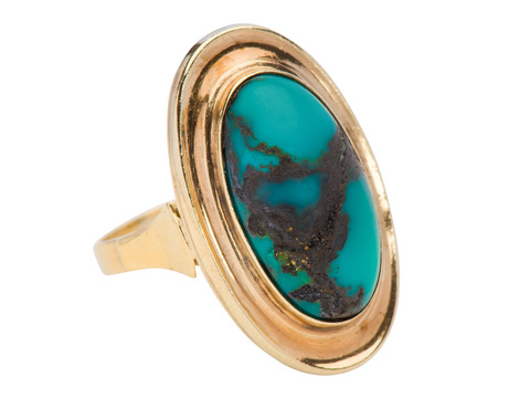 At Large  - Luscious Turquoise Cabochon Ring