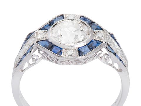 A Perfect Proposal Diamond Sapphire Ring
