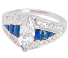 Superb Diamond Sapphire Ring
