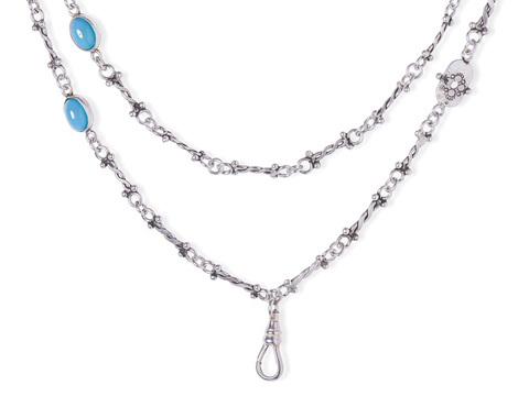 Long & Lovely Jazz Age Sterling Chain