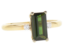 Earth Song - Chrome Tourmaline Sapphire Ring