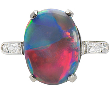 The Sky's the Limit - Black Opal Ring