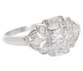 Field of Diamonds Platinum Ring