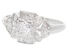 Field of Diamonds Platinum Ring