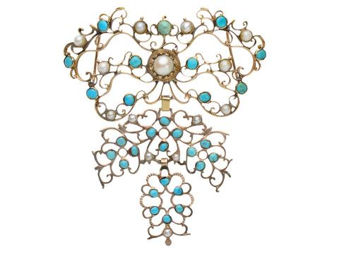 18th C. Gemstone Stomacher Pendant