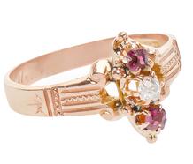 Victorian Garnet Diamond Ring