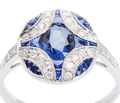 Intricacies - Diamond Sapphire Ring