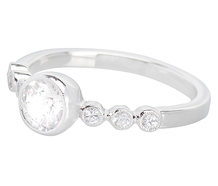 All in White Engagement Ring