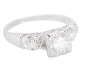 Three Diamond Engagement Ring