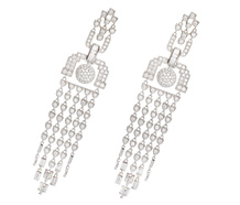 Draped in Diamonds - Fringe Earrings
