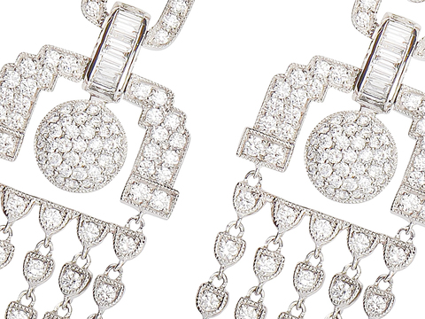 Draped in Diamonds - Fringe Earrings