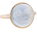 Mystery Man in the Moon Moonstone Ring