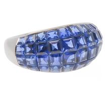 Invisible No More - Sapphire Bombe Ring