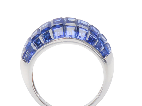 Invisible No More - Sapphire Bombe Ring