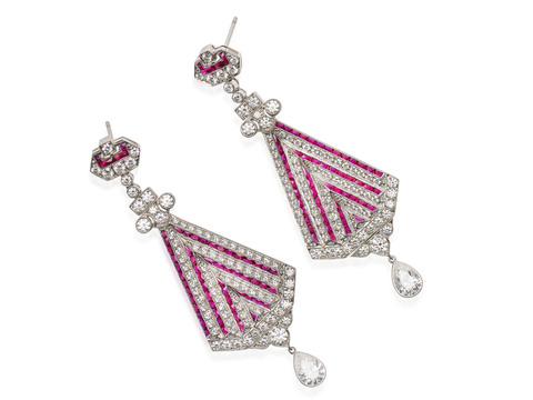 Your Signature - Diamond Ruby Earrings