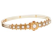 English Countryside Diamond & Pearl Bracelet
