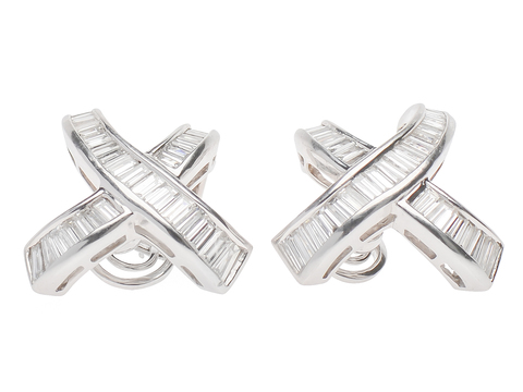 X Marks the Spot - Diamond Earrings