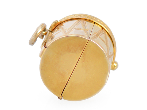 Bang the Drum - Victorian Two Photo Locket Pendant