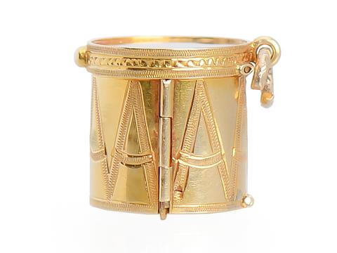 Bang the Drum - Victorian Locket Pendant
