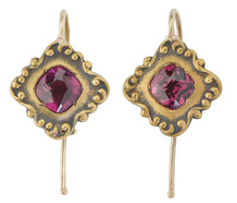 Shades of Plum Almandine Garnet Earrings