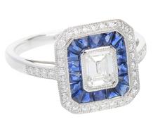 Artistry in Ice - Diamond Sapphire Ring