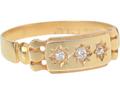 Hallmarked Victorian Diamond Ring of 1892