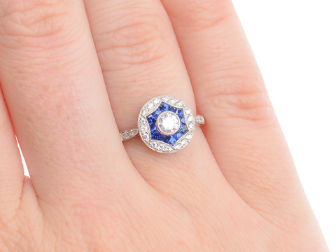 Auspicious Number - Diamond Sapphire Ring