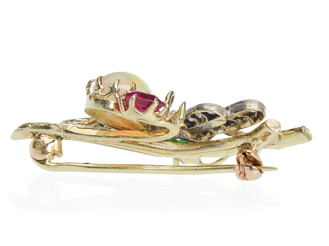 Bejeweled Courage - Edwardian Dragonfly Brooch