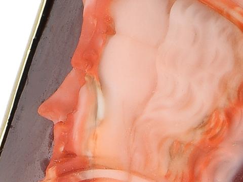 Fantastic Antique Gryllus Agate Cameo
